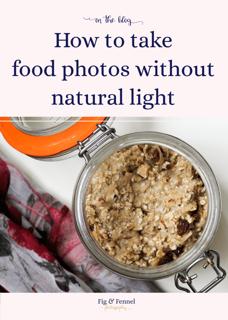How to take food photos without natural light