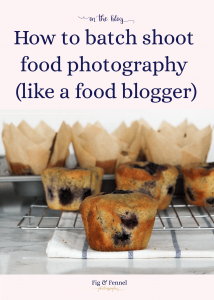 How to batch shoot food photography (like a food blogger)