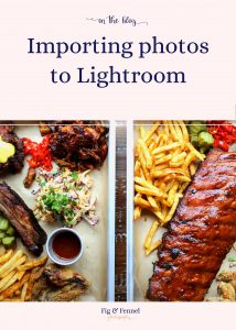 Importing photos to LightRoom