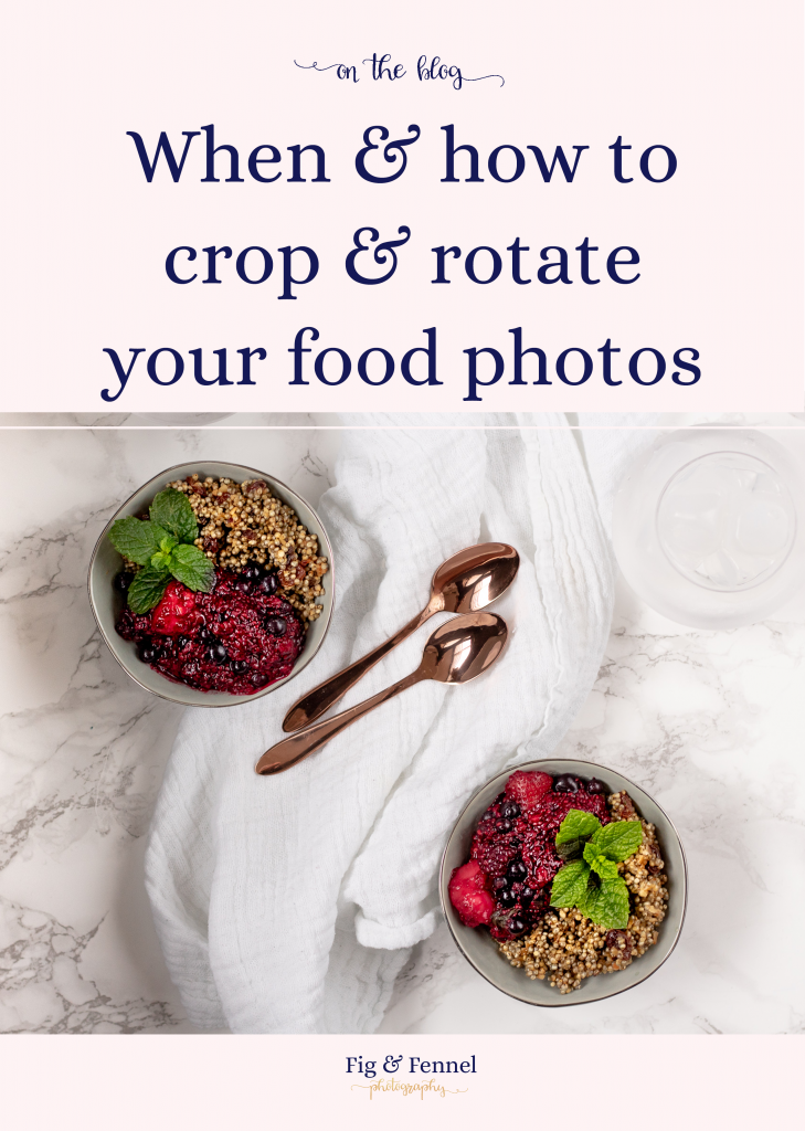 When & how to crop food photos