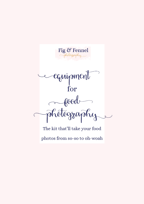 Essential equipment for food photography