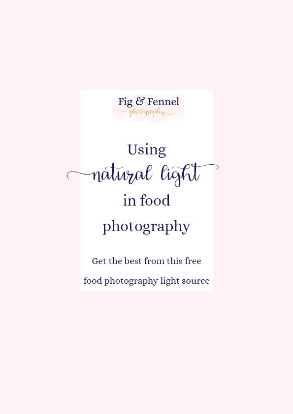 Using natural light in food photography
